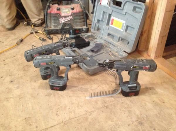 Sheetrock screw guns