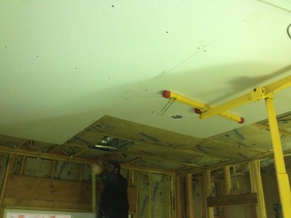 Ceiling progress