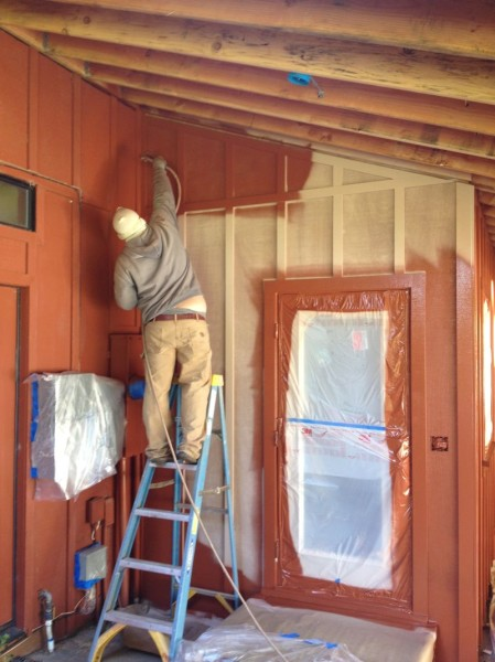 Painting the area near the new back door