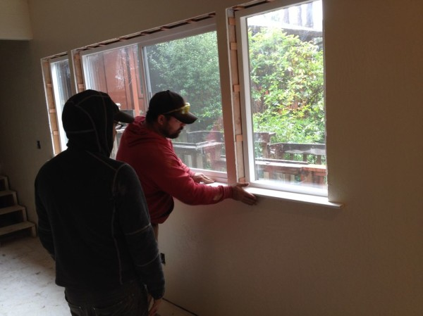 Installing the sill