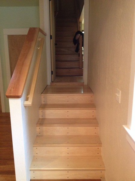 New stairs + old stairs