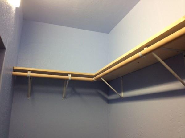 Shelf and closet rod