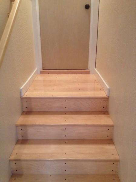 Stair landing trim