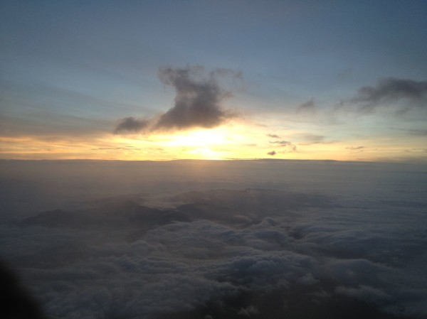 Sunrise from the summit of Mt. Fuji (July 2013)