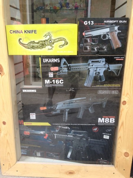 Who wouldn't want their kid playing with a gun that looks exactly like the real thing?