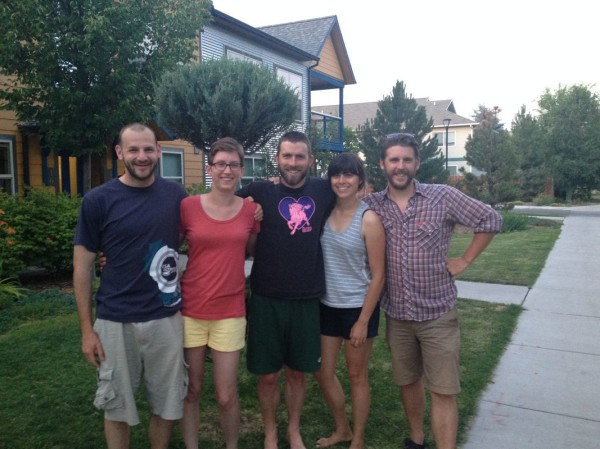 Missoula folks. From left: Me, Maddy, Dave, Autumn, and Colin