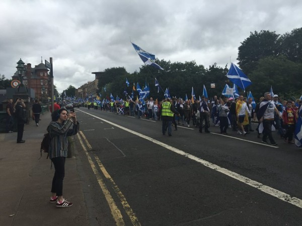 Protest in Glasgow