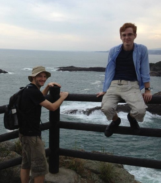 Jon and me on the Miyazaki Coast, Japan (Fall 2012)