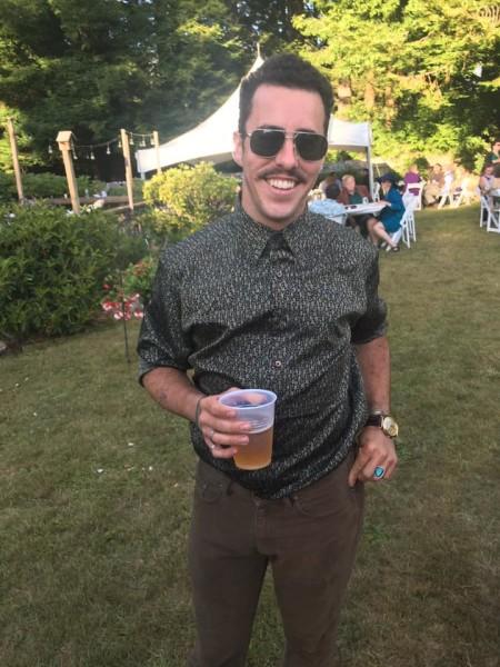 Erik at my wedding, July 9th, 2016